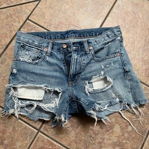 Denim and supply distressed shorts